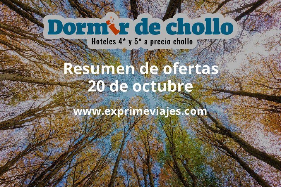 Resumen de ofertas de Dormir de Chollo – 20 de octubre
