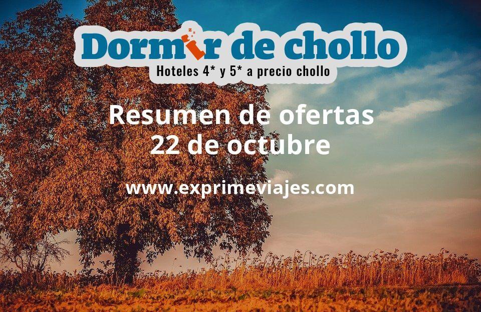 Resumen de ofertas de Dormir de Chollo – 22 de octubre